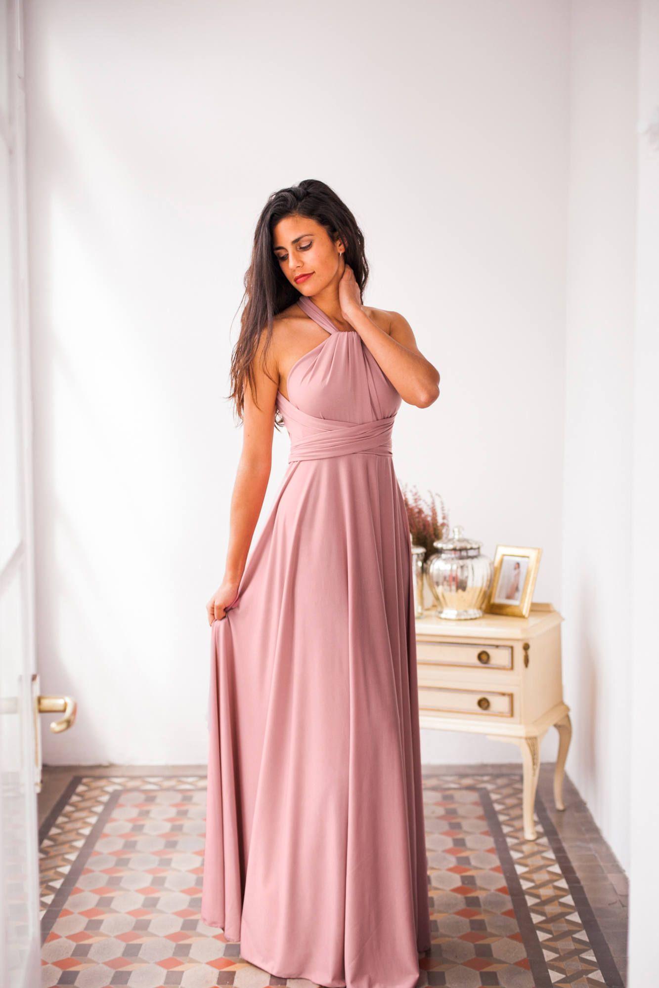 Blush bridesmaid dress blush pink bridesmaid dress long powder