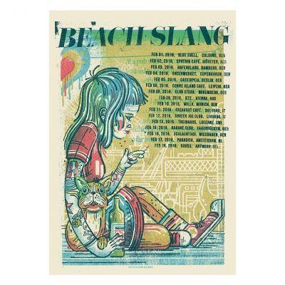Beach Slang Eu Girl Tour Poster B Day 16 Pinterest