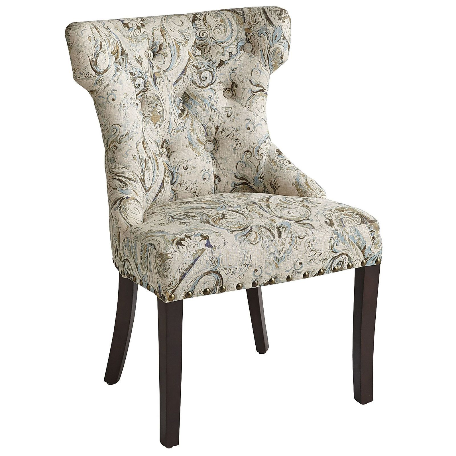 Hourglass Dancy Multicolor Dining Chair with Espresso Wood ...