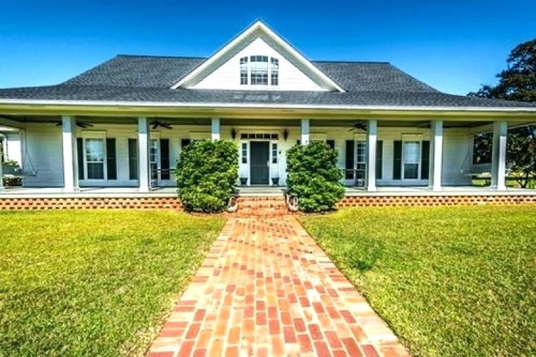 one story house with wrap around porch one story farmhouse