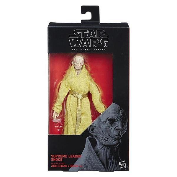 "SUPREME LEADER SNOKE Hasbro Star Wars 6/"" Black Series The Last Jedi Wave 14 NIB"