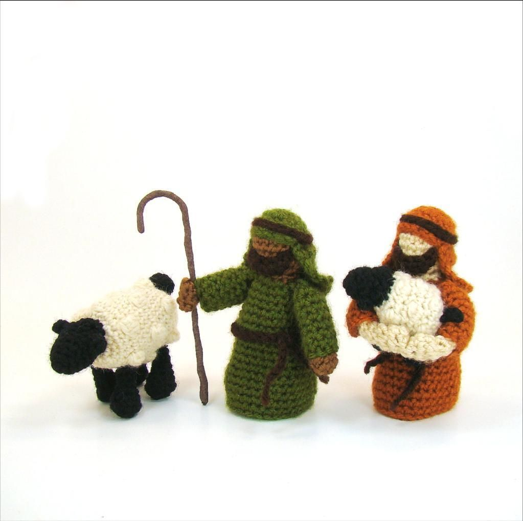 Toy Tutorial Baby Jesus PDF Crochet Pattern Mary Joseph Shepherds Sheep Christmas Crocheted Pattern PATTERN: Nativity Amigurumi Set
