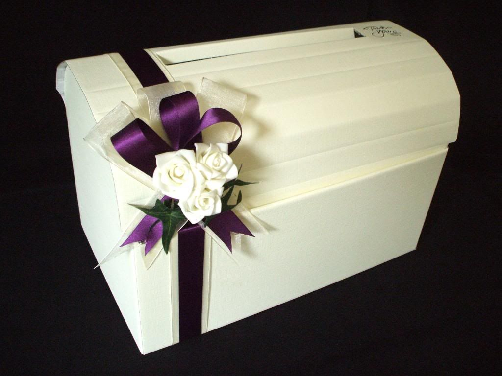 wedding box 3 Ivory or White Rose Wedding Chest Card Post Box Wishing Well Any Colour