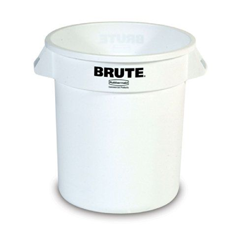 Save 6 15 On Rubbermaid Commercial Fg261000wht Brute Lldpe 10 Gallon Trash Can Without Lid Legend Only 17 97 Trash Can Rubbermaid Garbage Can