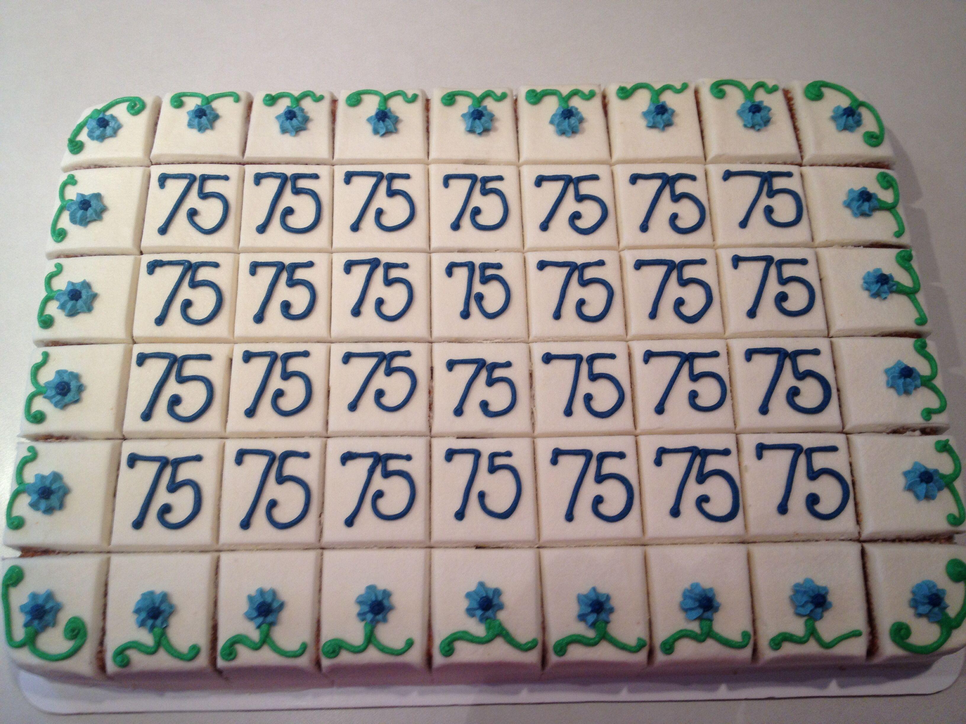 75th birthday cakes pinterest