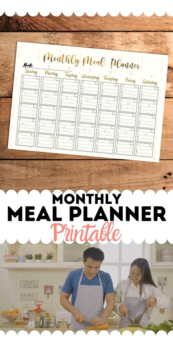 Monthly Meal Planner in 2020 Monthly meal planner, Meal