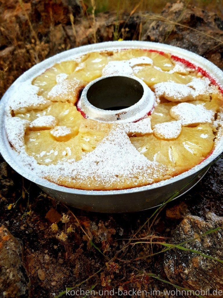 Photo of Schneller Ananaskuchen aus dem Omnia Camping Backofen › kochen-und-backen-im-wohnmobil.de