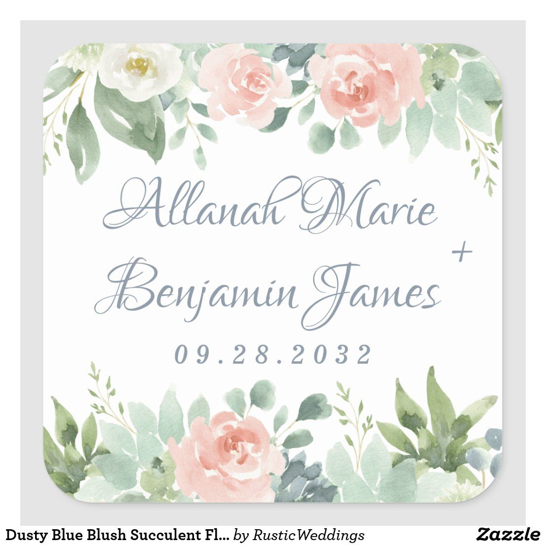 Personalized Address Labels  Blue White Anemone Flowers  Custom Labels  Envelope Seals  Spring Floral  Favor Labels  Thank You Labels
