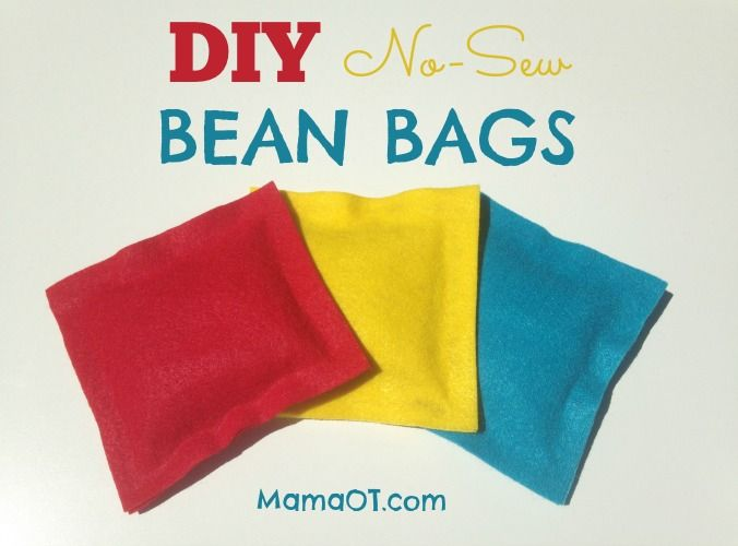Diy No Sew Bean Bags Diy Bean Bag Bean Bag Activities
