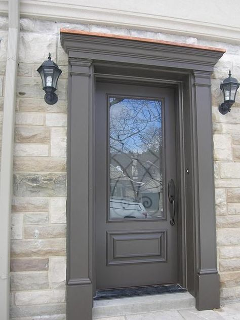 Fibreglass Door Entry With Matching Pilasters And Pediment Door Surround Exterior Door Trim Exterior Front Doors Fiberglass Entry Doors