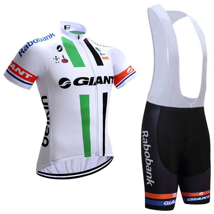 96c854b85 2017 Team Giant Pro Cycling Jerseys White Green
