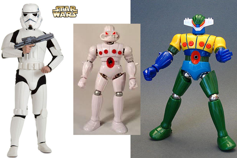 trasformazione dalle truppe imperiali di guerre stellari e dal robot jeeg è nato force commander
