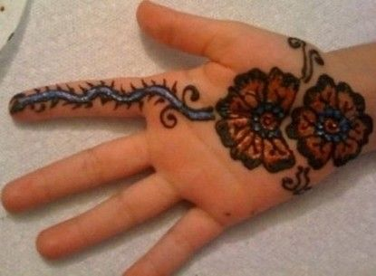 Mehndi Party List : Latest indian mehndi designs for kids hands