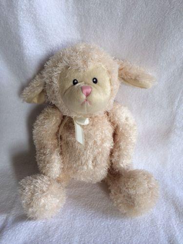 5991a11aa9e8 Gund Baby Fluffles Lamb Sheep Lovey Lovie 5844 15 inch Plush Cream Stuffed  Toy   eBay