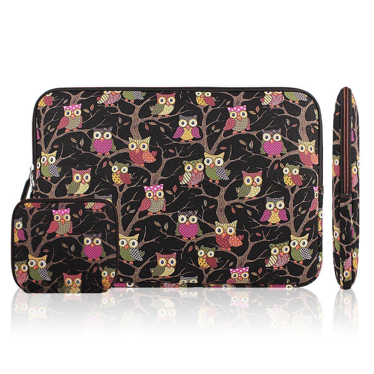 Amazon Com Kamor 11 11 6 11 6 12 Inch Bohemian Style Animal World Owl Blue Macbook Air Canvas Fabric Sleeve Case C Ultrabook Laptop Bag Case Best Laptops