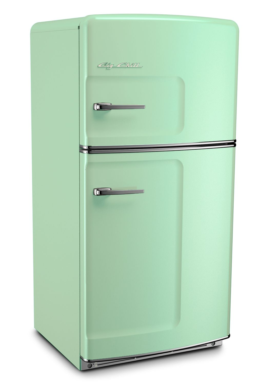 Jadite green retro refrigerator by big chill the only for Retro kühl gefrierschrank