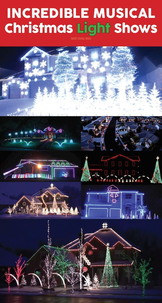 christmas light shows with music lights