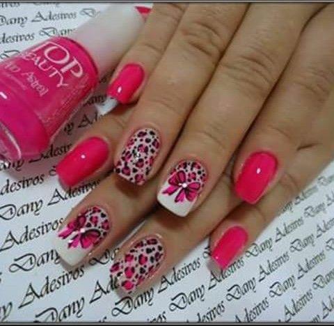 unhas pink