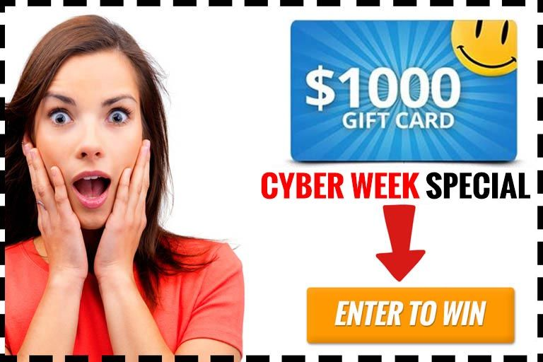 Congratulations! Here's your $100-$1000 Gift Cards