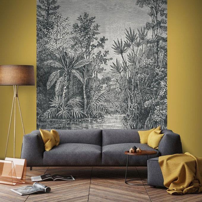 Graham & Brown Papier Peint Panoramique Intissé Jungle Gris 200 X 280 Cm – Taille : Taille Unique