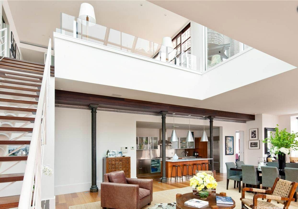 Modern Loft House Design Ideas Small Apartment Design Ideas Glass Ceiling Skylight Contemporar Loft House Design Small Apartment Design Open Floor Plan Kitchen