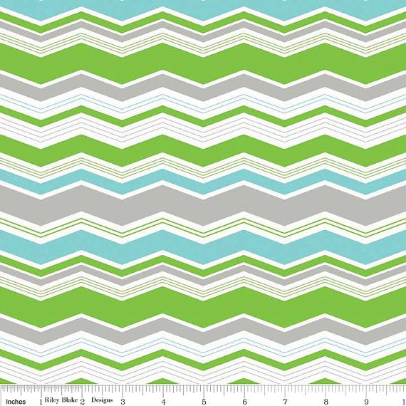 Noah\'s Ark Chevron fabric from Riley Blake by SouthernStitchFabric ...