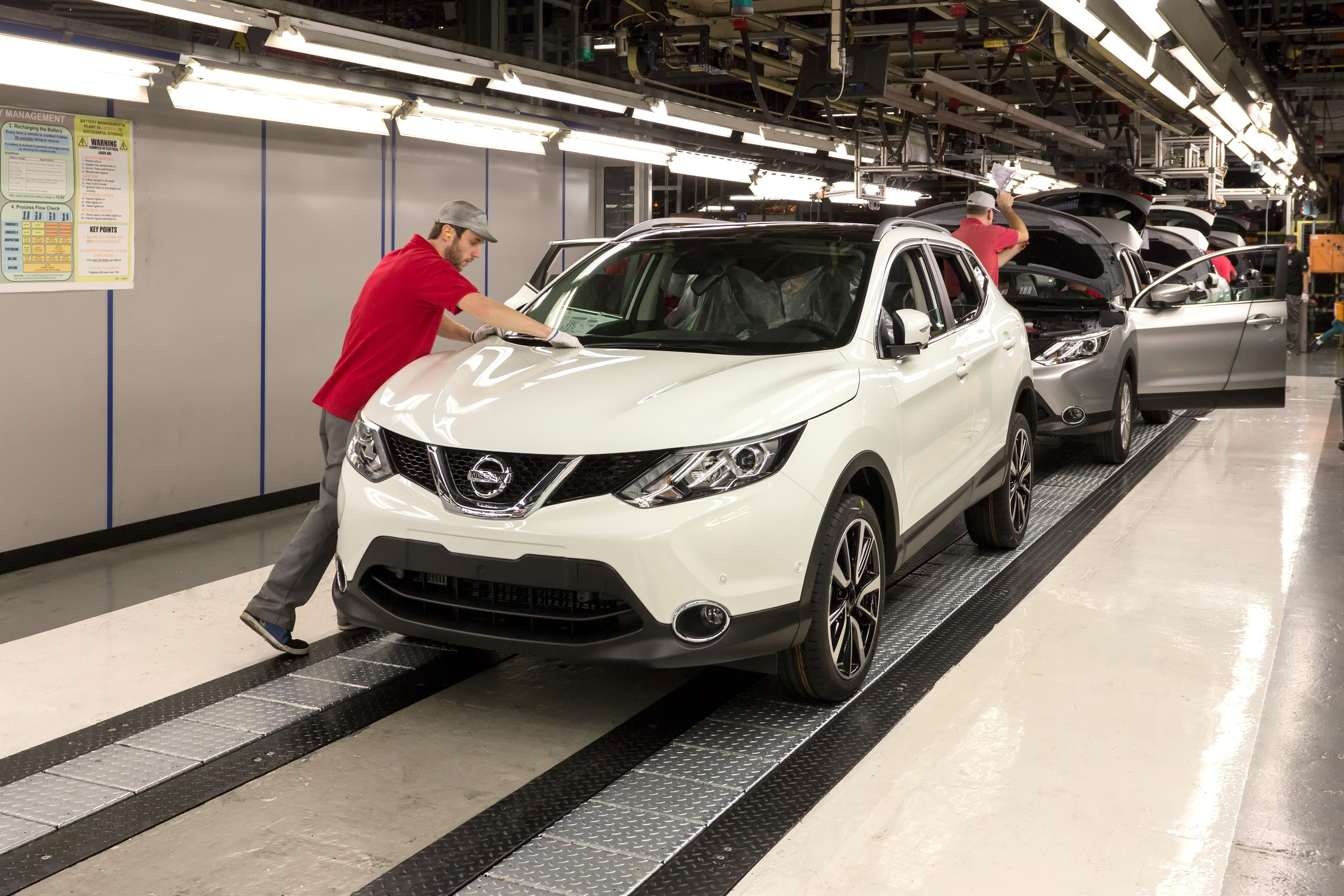 On the production line the new nissan qashqai