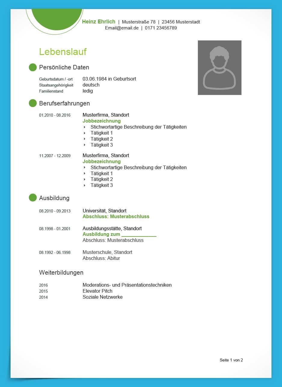 Lebenslauf Vorlage Modern Kostenloser Download German Embassy