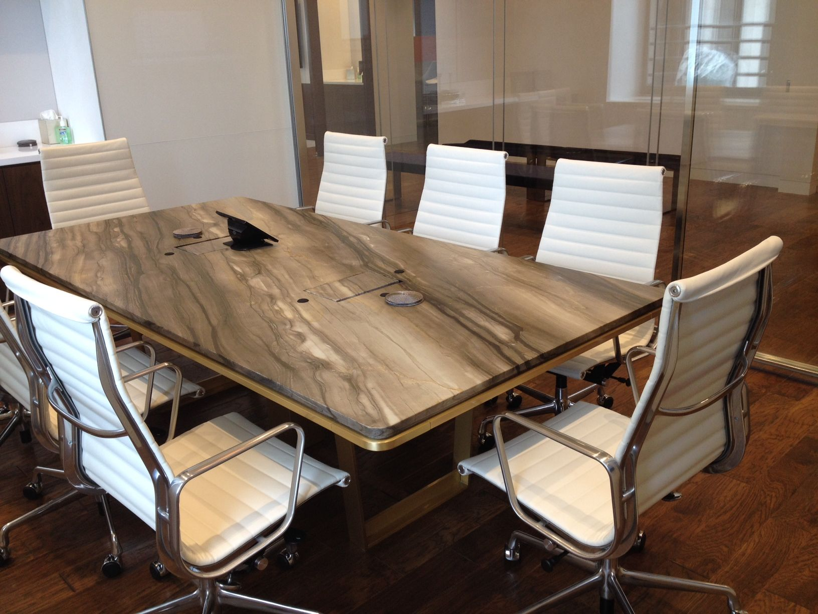 Financial Firm Stone Top Conference Table Svend Nielsen Custom - Stone conference table