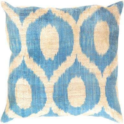 Cuscini Ikat.Ikat Throw Silk Pillow