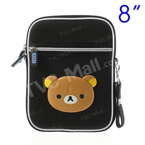 Black XHJ Rilakkuma Cloth Shoulder Bag for iPad mini 8-inch Tablets, Size: 17.5 x 24.3cm