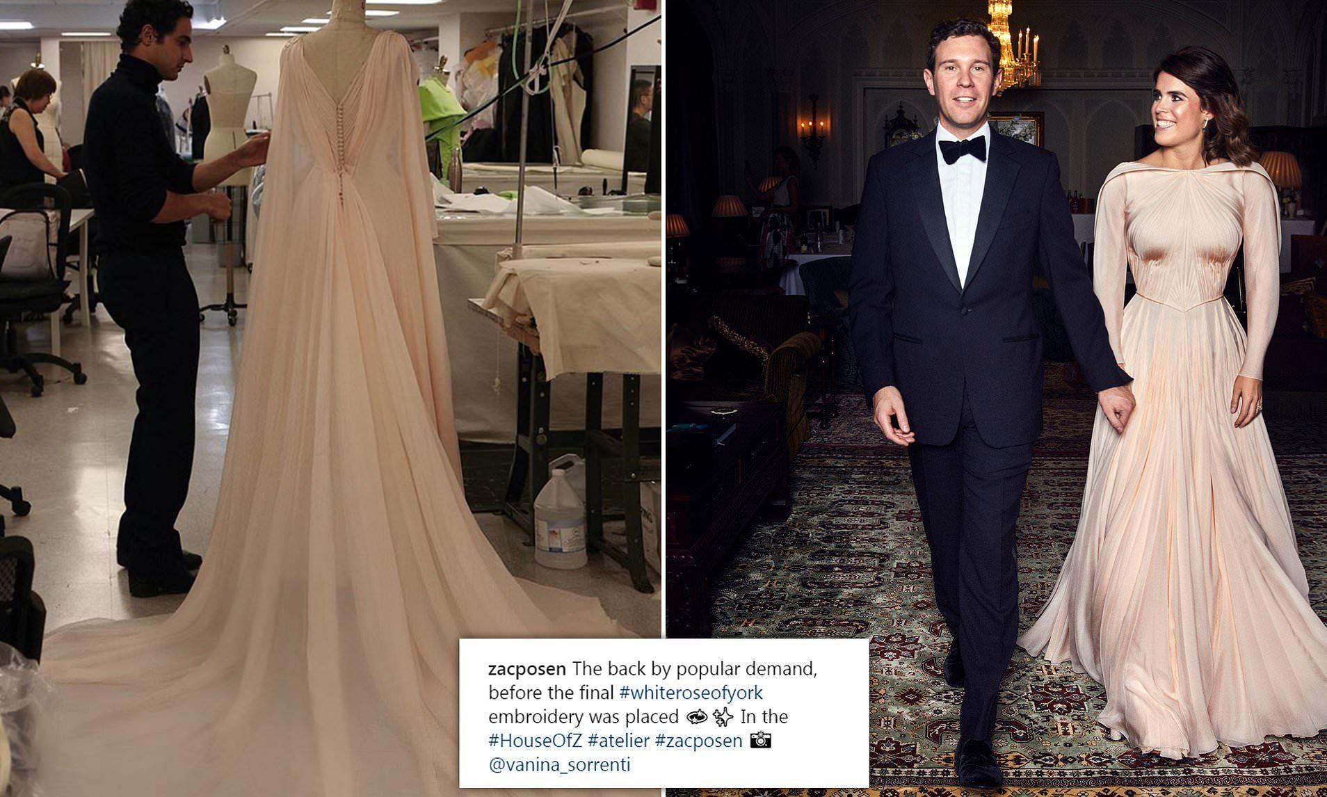 Princess Eugenie's evening dress also showed off scoliosis