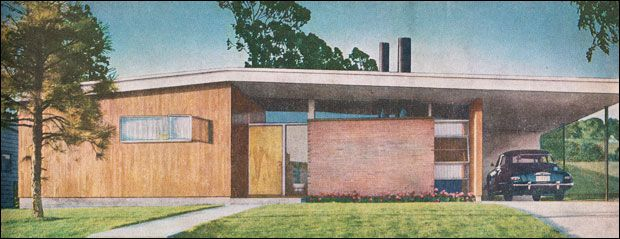 Better Homes Gardens Designs For The Middle Class Mid Century Modern House Mid Century House Affordable Mid Century Modern