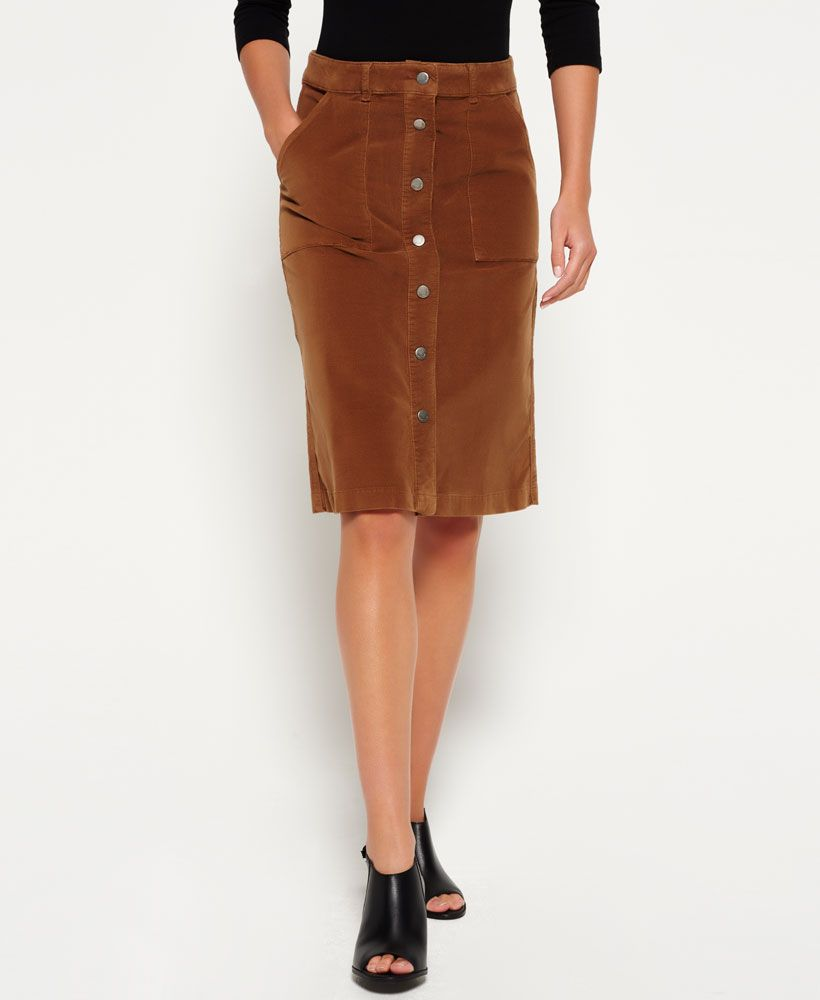 8556b3d5eb Superdry A-Line Midi Cord Skirt   Fall 2018 Lookbook   Skirts, High ...