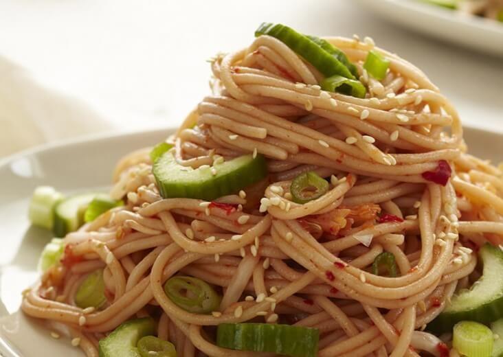 Kimchi noodle salad recipe recipes kimchi noodles