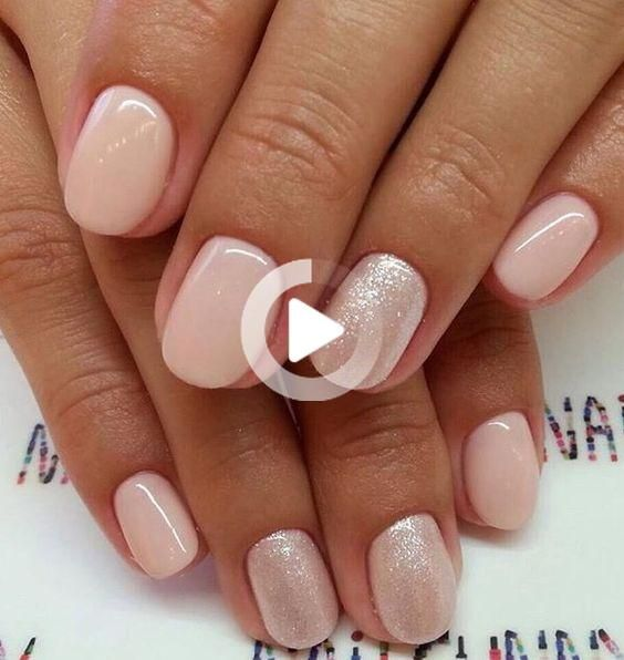 19 beste Nageldesign Natur kurze #Nails