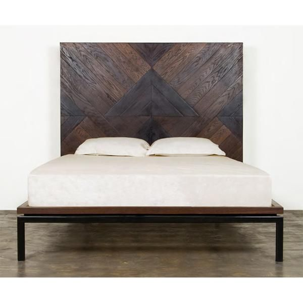 Nuevo Living Drake Bed. Details:   Color: Seared   Color 2: Black