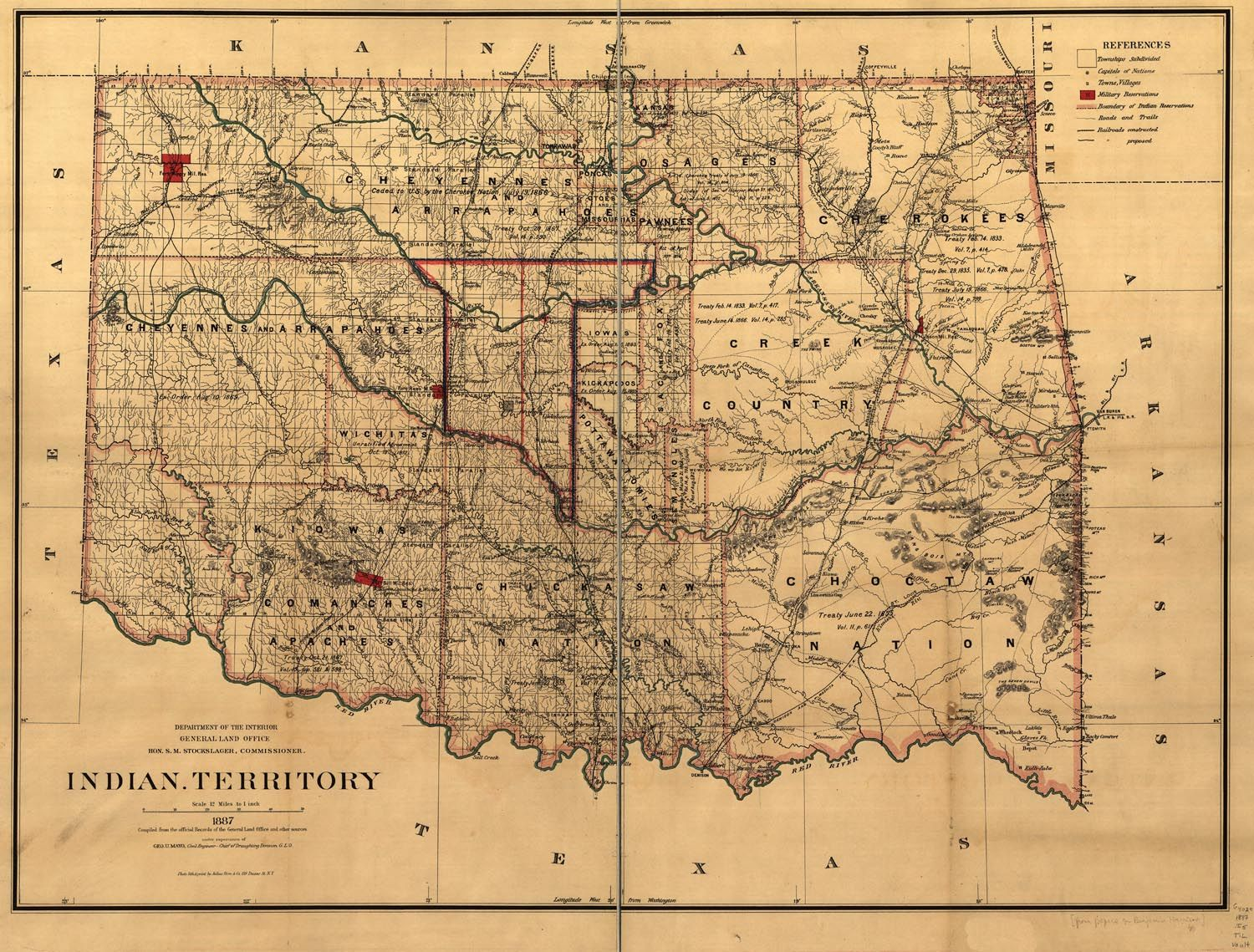 Indian Territory By Act Of Congress June All That - Us map of indian territories