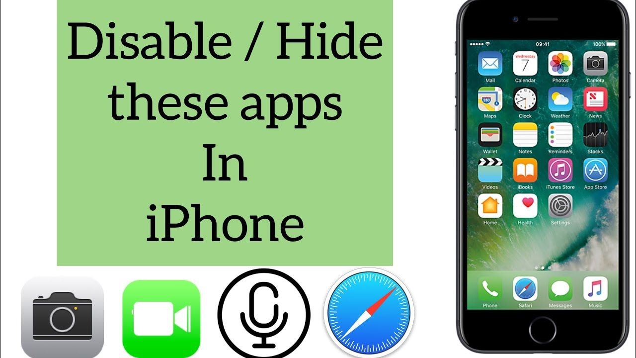 How to hide iPhone apps Hide inbuilt iPhone apps hide