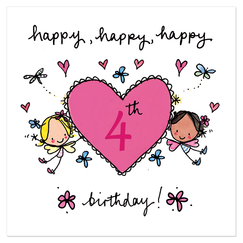 Happy 4th Birthday Birthday Cards Messages Sayings Images