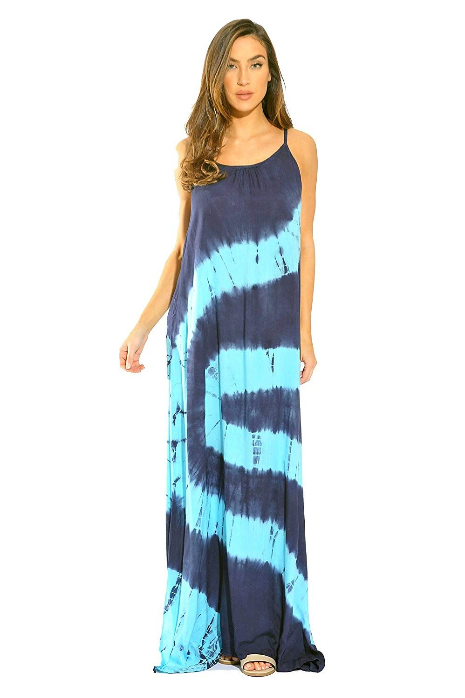 6b1e7e9415 Riviera Sun Tie Dye Spaghetti Strap Maxi Dress at Amazon Womens Clothing  store, Amazon Affiliate link. Click image for detail, #Amazon #riviera #sun  #tie ...