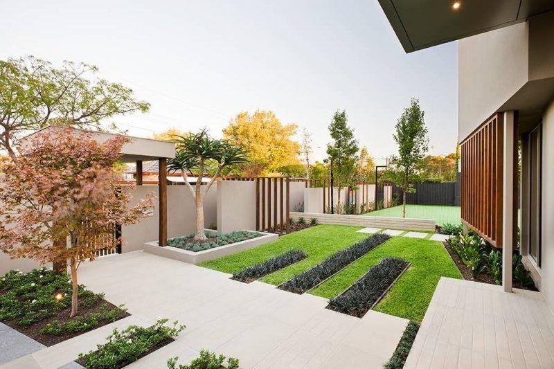 Minimalism In The Garden 51 Ideas For Modern Garden Design Front Garden Design Front Yard Garden Design Minimalist Garden