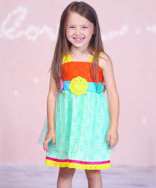 Take a look at the Turquoise Garden Dress - Infant, Toddler & Girls on #zulily today!