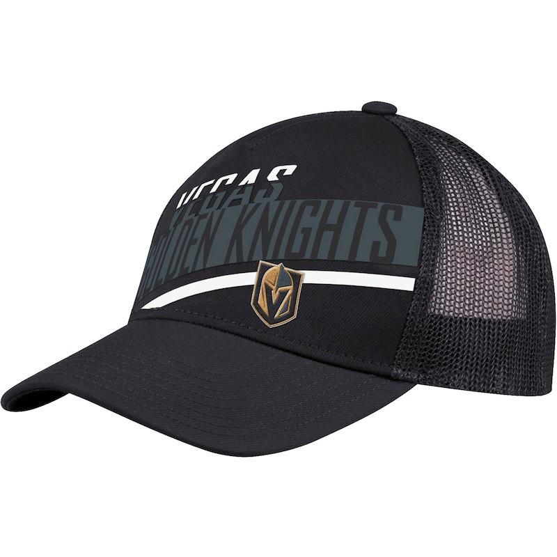 f9012cb8139 Vegas Golden Knights adidas Laser Trucker Adjustable Snapback Hat - Black