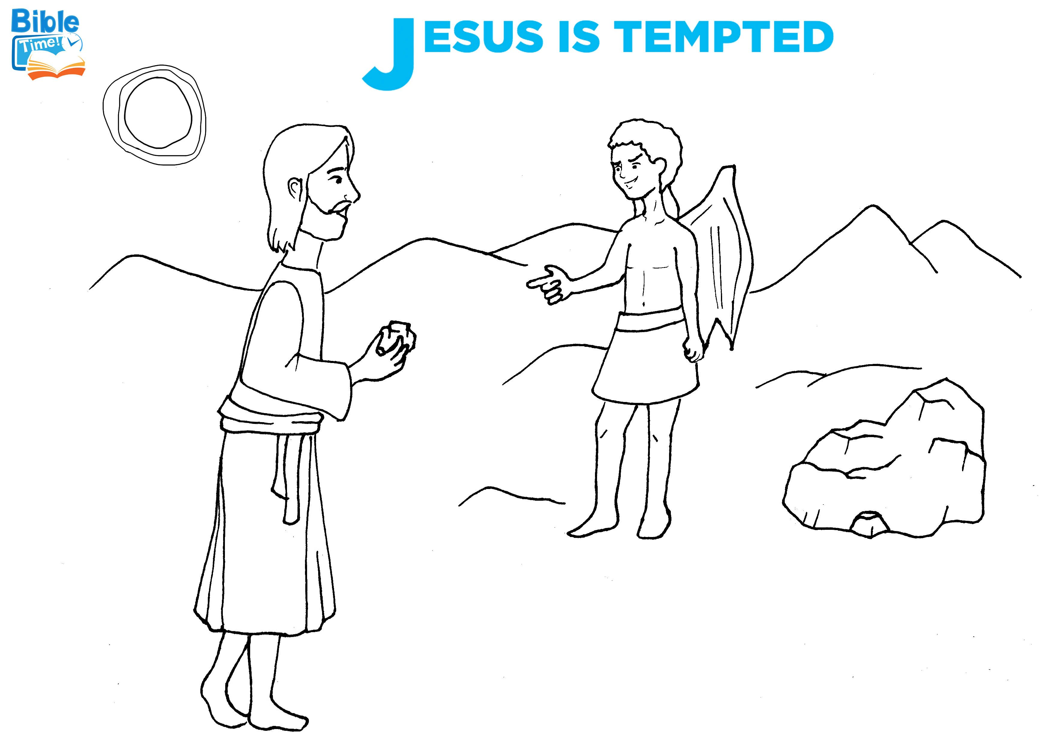 Free Jesus Is Tempted Bible Coloring Page Coloring Sheets For