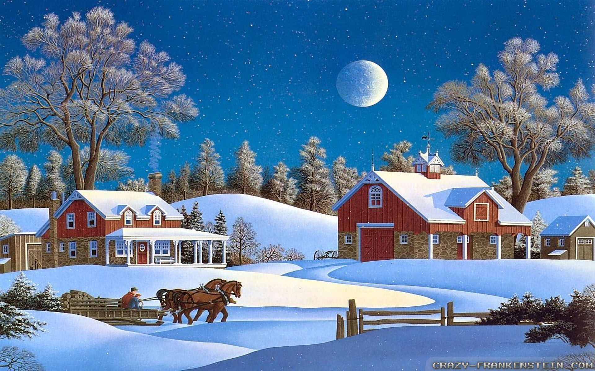 Winter Christmas Wallpapers High Resolution For Free Wallpaper