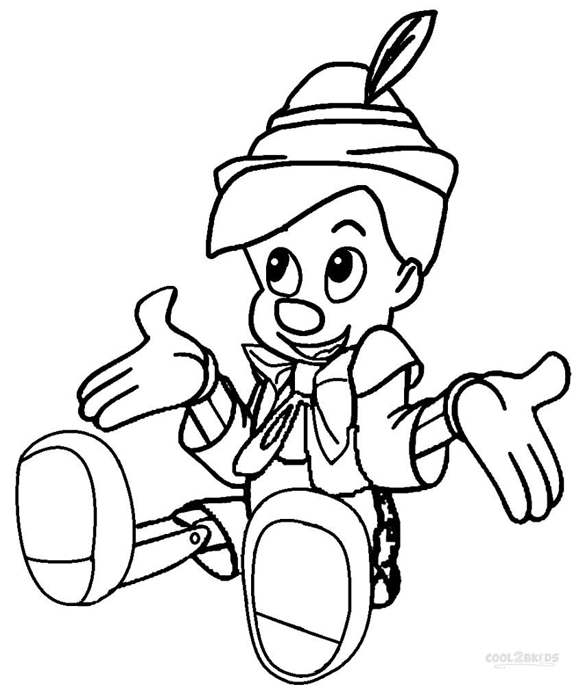 Printable Pinocchio Coloring Pages For Kids | Cool2bKids | Disney ...
