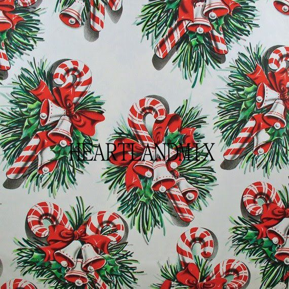 Candy Cane Vintage Christmas Paper Wallpaper Digital Image Etsy Vintage Christmas Wrapping Paper Vintage Christmas Christmas Ephemera