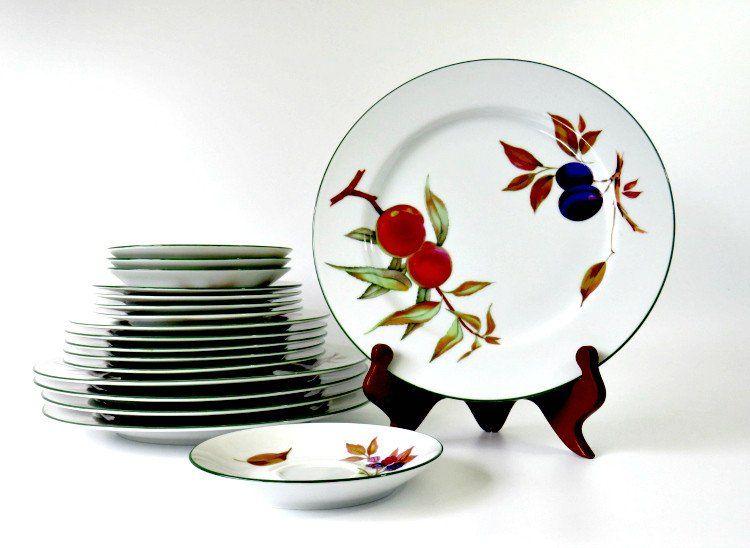 Royal Worcester Evesham Vale Fine Porcelain China, Fruit Pattern ...