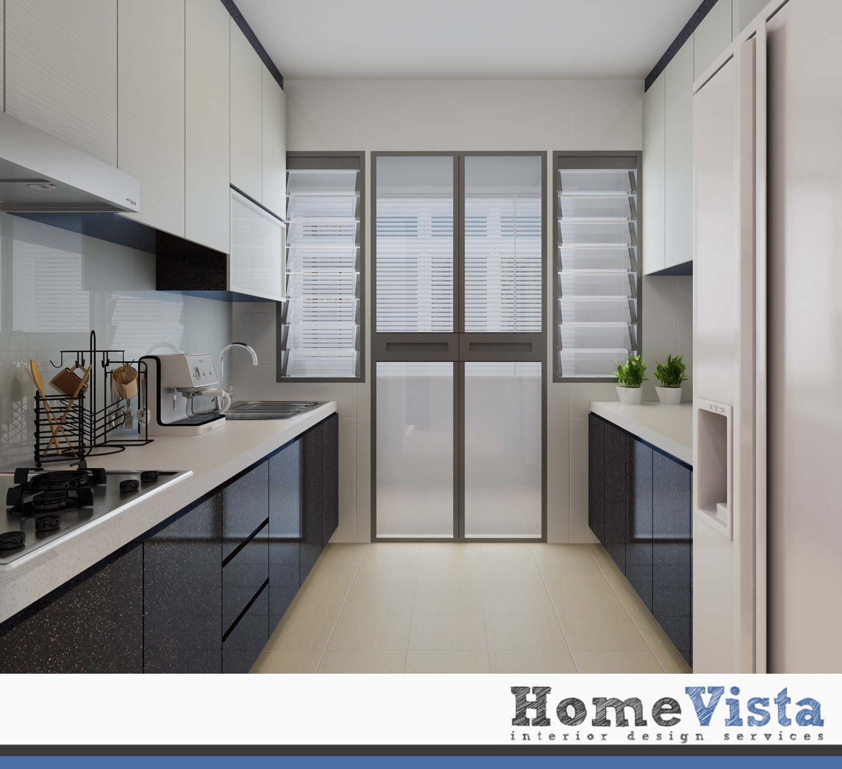 Kitchen Room Interior Design: 4 Room BTO - Yishun HDB BTO - HomeVista